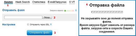 Проверить файл на вирусы онлайн