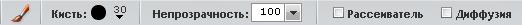 Панель параметров инструментов